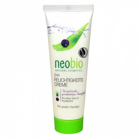 Neobio, Увлажняющий крем для лица 24 часа, 50мл