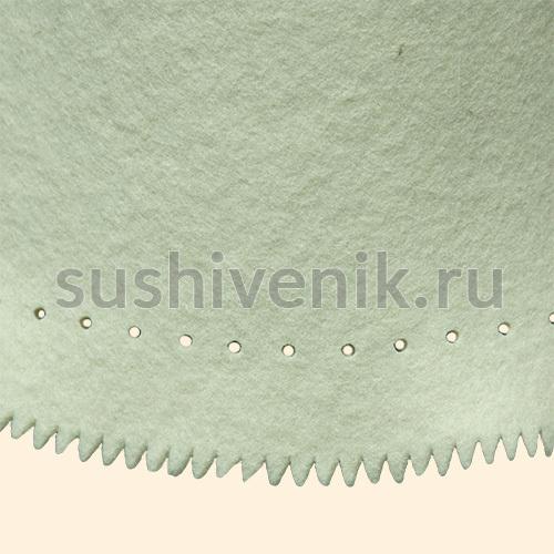 Белый фетровый колпак для бани