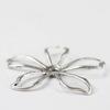 Винтажный декоративный элемент - шапочка 33 мм (оксид серебра)