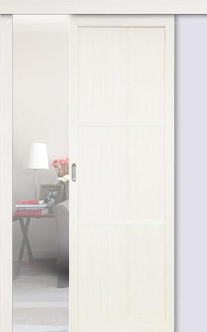 Перегородка межкомнатная Optima Porte 130.111, цвет белый монохром, глухая (за 1 кв.м)