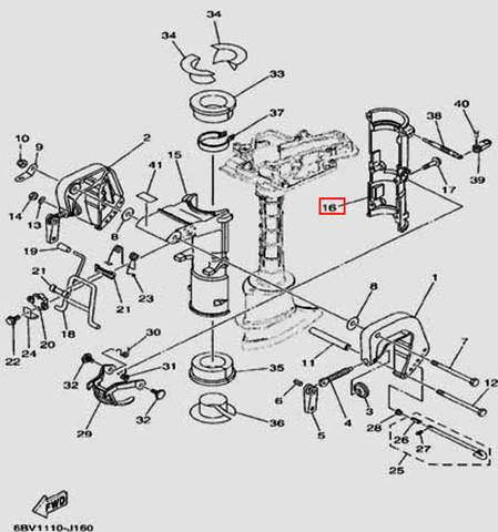 Поворотный кронштейн для лодочного мотора F5 Sea-PRO(16-16)