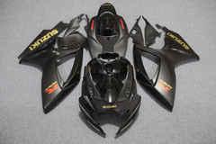 Комплект пластика для мотоцикла Suzuki GSX-R600/750 06-07 Черный с Золотыми наклейками