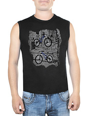 0078-2 футболка мужская, черная