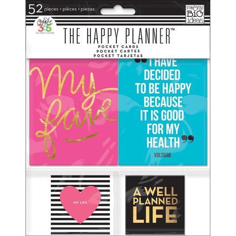 Журнальные карточки Create 365 Happy Planner Pocket Cards  -52шт.