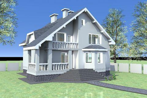 """Дом из камня """"МД-К-318"""" 318 кв.м."""
