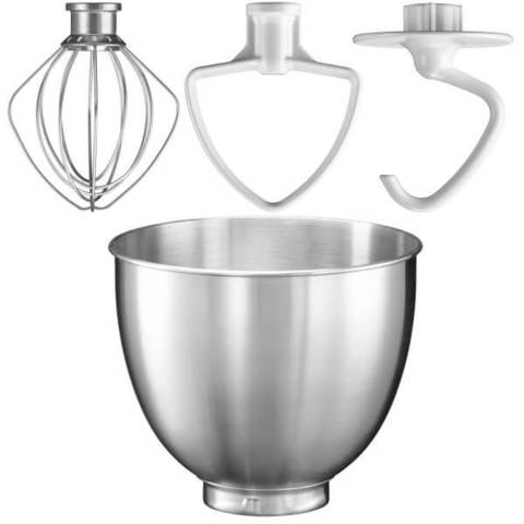 Планетарный миксер с металлической чашей KitchenAid Artisan Mini, 3 насадки, фото