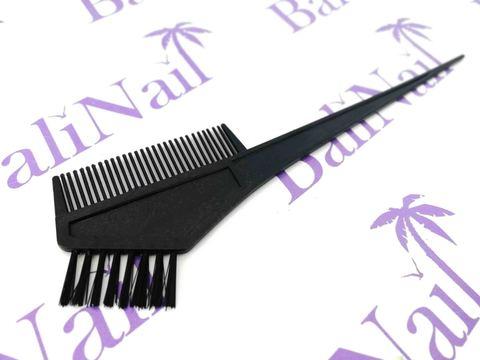Кисть с гребнем для окрашивания волос СуперЭконом (чёрная с чёрным ворсом)