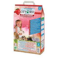 Cat's Best Universal Strowberry Древесный комкующийся наполнитель клубника 5,5 кг