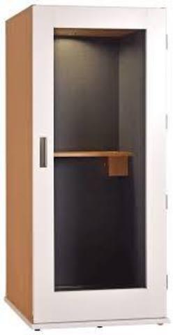 Офисная телефонная будка 25Дб, размеры  150 х 150 х 210  отделка листовой акустический поролон