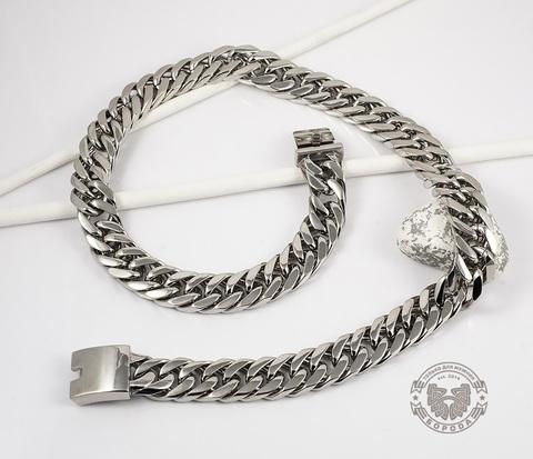 PM201 Широкая, массивная цепь из ювелирной стали (64 см)