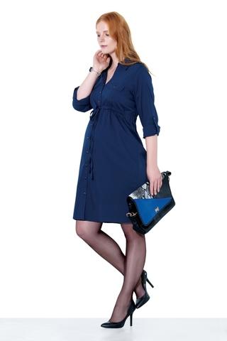 Платье для беременных 05529 синий