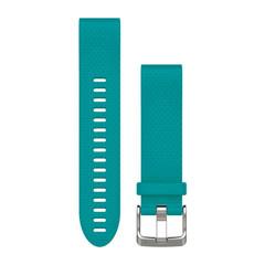 Ремешок силиконовый QuickFit 20 для Garmin Fenix 5S (бирюзовый)010-12491-11