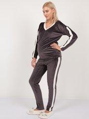 Евромама. Костюм плюшевый брюки и джемпер, темно-серый