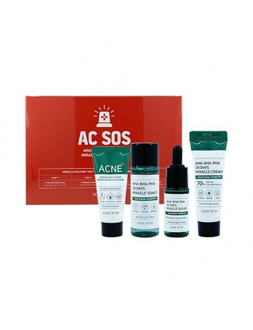 Набор для проблемной кожи с кислотами SOME BY MI AHA.BHA.PHA 30 Days Miracle SOS Kit