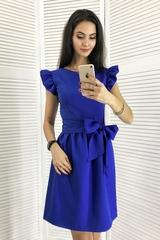 Паула. Красивое платье с пышной юбкой. Електрик