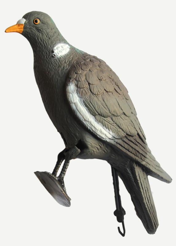 Чучело голубь с лапами на опоре