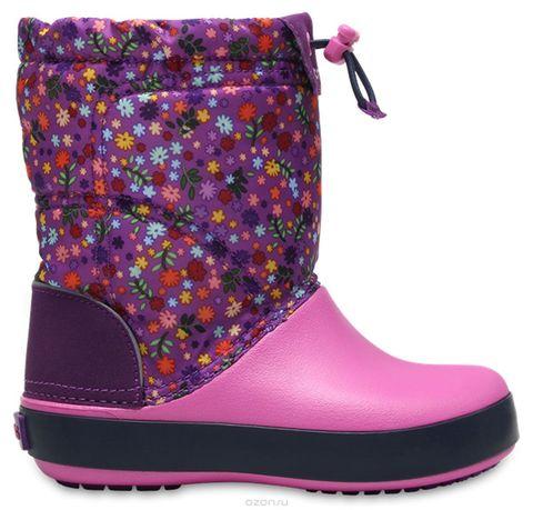 Сапоги детские Crocs Crocband LodgePoint Graphic KIDS Amethyst/Party Pink