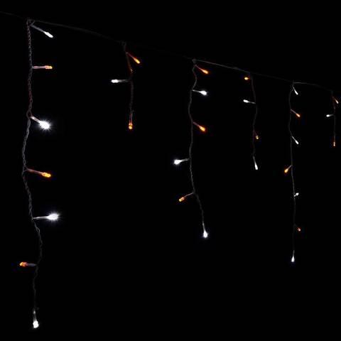 LED сталактиты гирлянда бахрома занавес на фасад прозрачный шнур провод