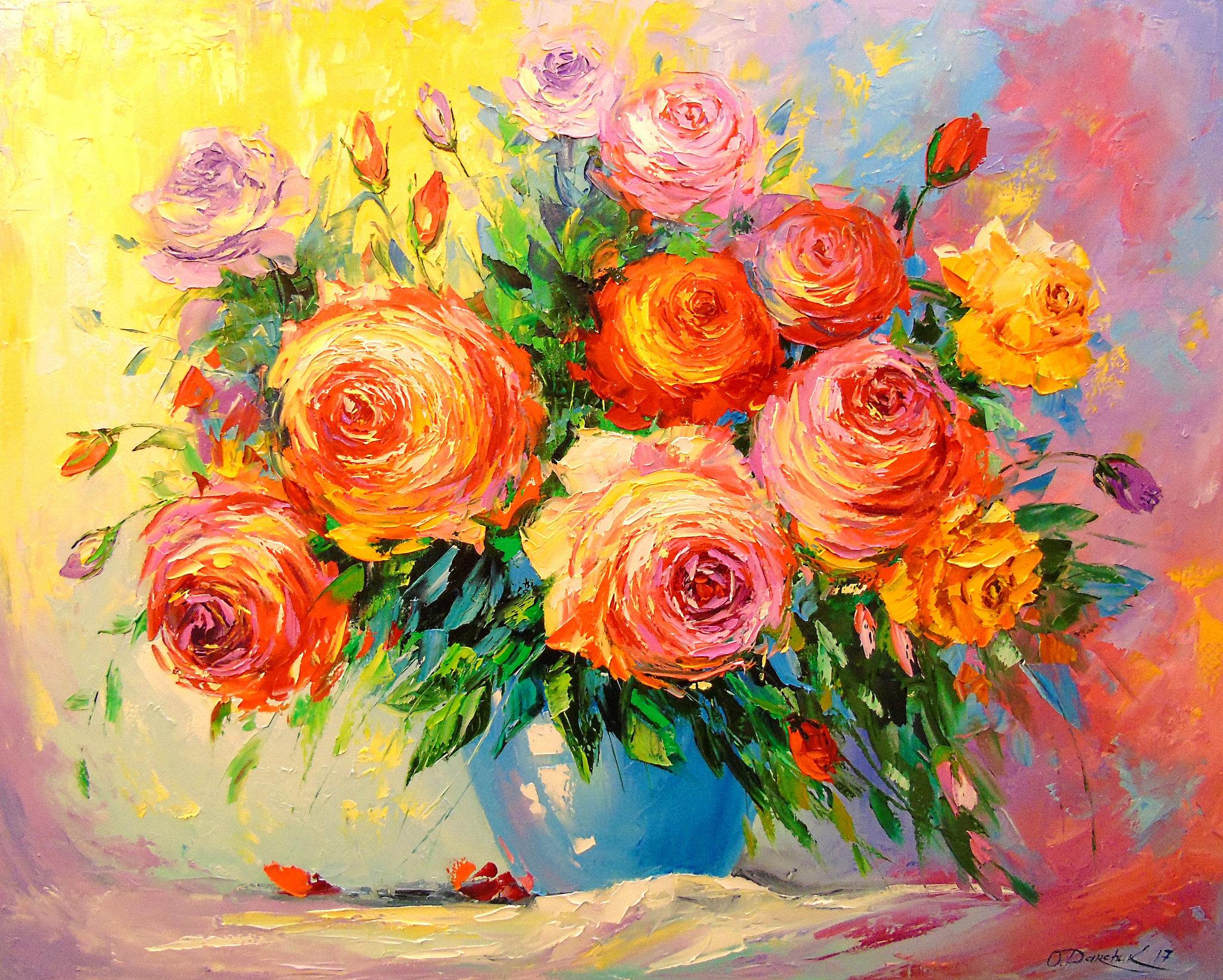 Картина раскраска по номерам 40x50 Разноцветный яркий ...
