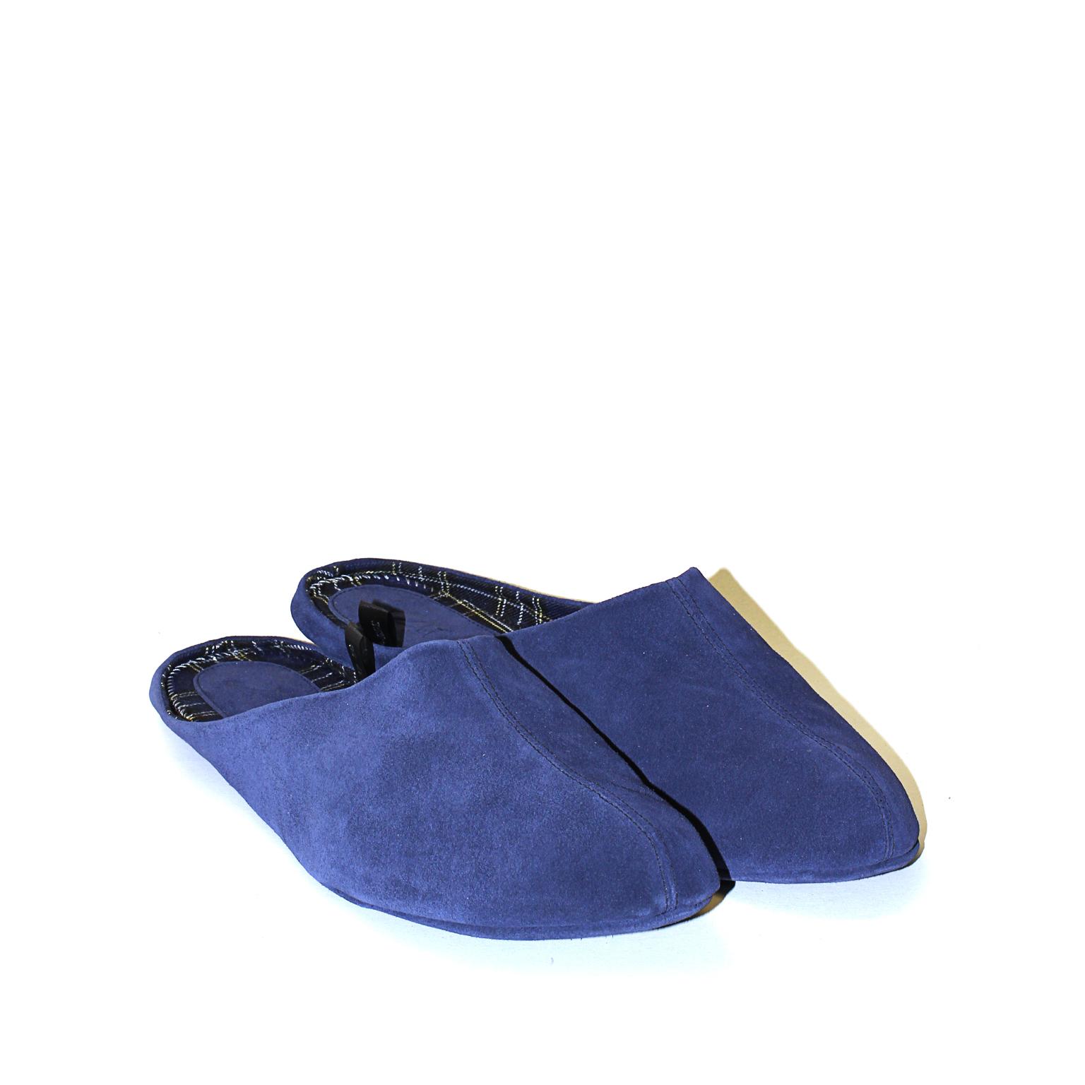 777137 туфли домашние мужские синие больших размеров марки Делфино