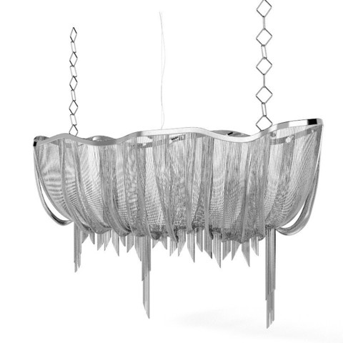 replica TERZANI   Atlantis 1 suspension lamp (silver)
