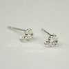 Пуссеты - гвоздики с сеттингом для страза 3 мм (цвет - серебро) (без заглушек)