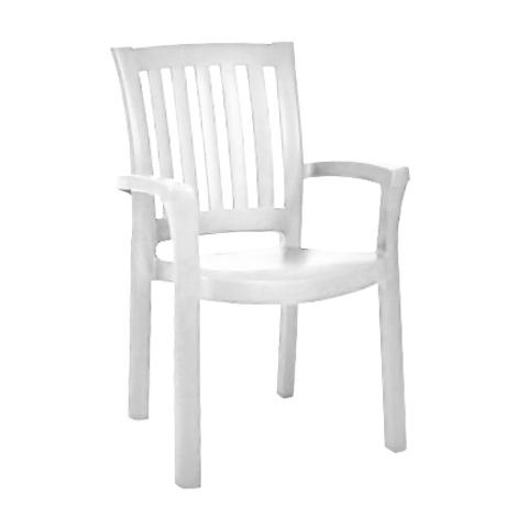 Кресло пластиковое «Анкона» белое