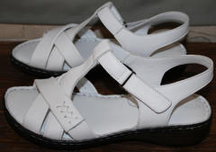 Кожаные женские босоножки Evromoda 15 White.