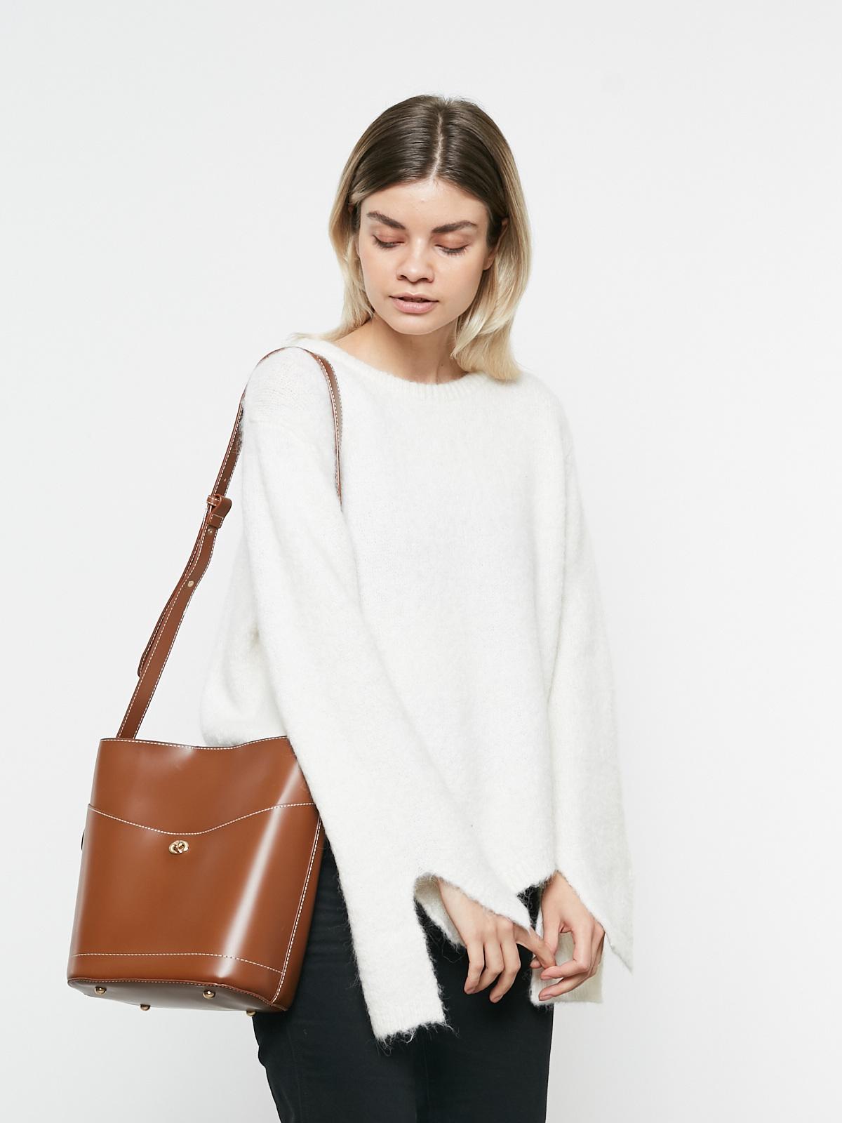 Сумка-торба с карманом