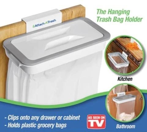 Навесной держатель с крышкой для мусорного пакета Bag Holder