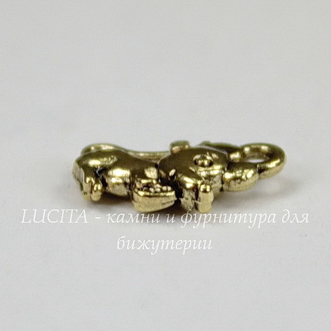 """Подвеска """"Мышка"""" 12х7 мм (цвет - античное золото)"""