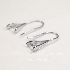 Швензы - крючки с держателем для подвески, 23 мм (цвет - платина), пара