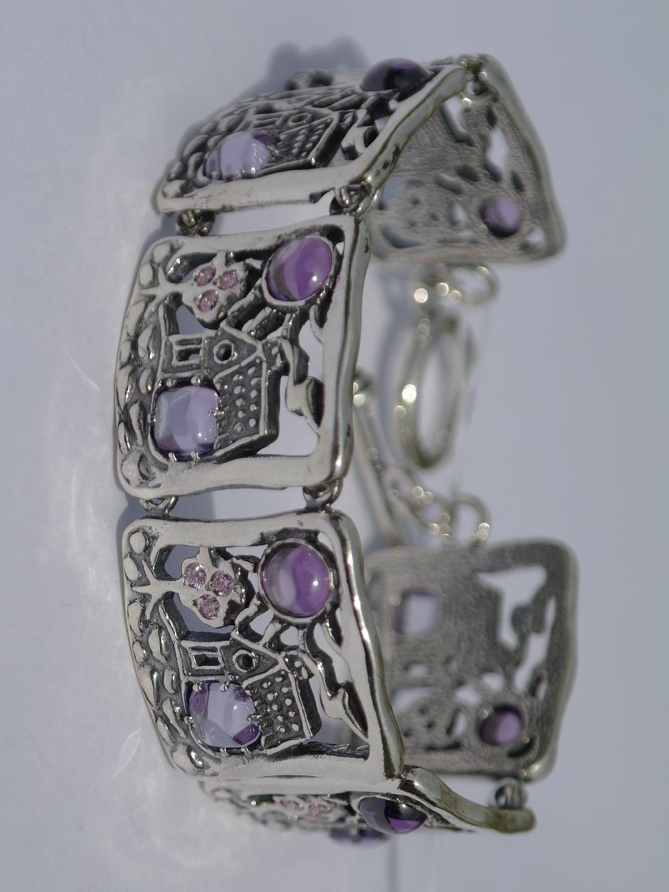 Кантри (браслет из серебра)