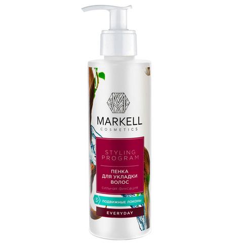 Markell Styling Program Пенка для укладки волос сильная фиксация 200мл