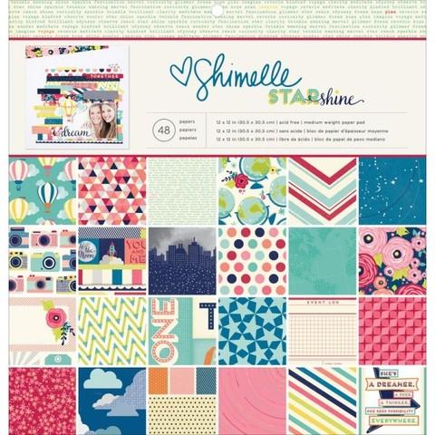 Набор односторонней бумаги  30х30см Shimelle Starshine by American Crafts