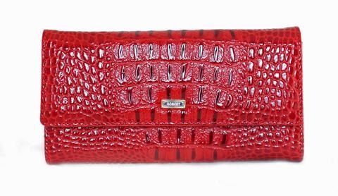 Кошелёк красный женский Coscet нат.кожа CS21-301B