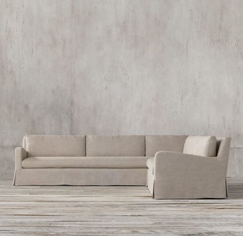 Belgian Slope Arm Slipcovered Right-Arm L-Sectional