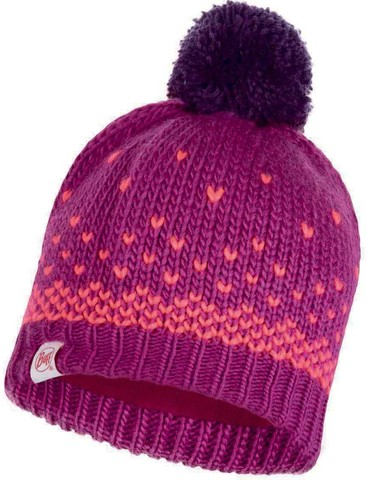 Шапка вязаная с флисом детская Buff Hat Knitted Polar Hilda Purple Raspberry