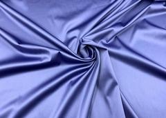 Атлас-стрейч синий Италия