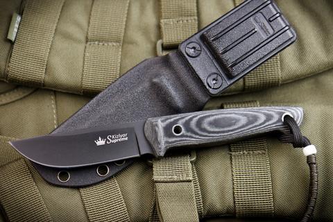 Туристический нож Nikki AUS-8 Black Titanium Kydex
