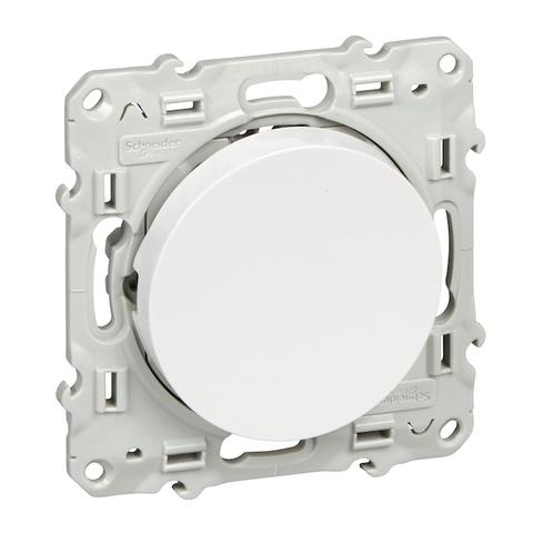 Выключатель одноклавишный (схема 1) 10 АХ, 250 В. Цвет Белый. Schneider Electric(Шнайдер электрик). Odace(Одес). S52R201