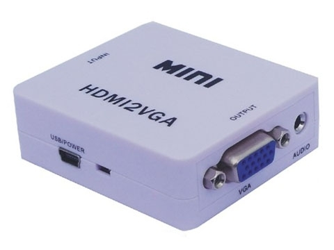 Конвертер, переходник HDMI VGA из HDMI в VGA+Audio (3,5 мм) Активный 1080p