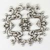 Винтажный декоративный элемент - филигрань 44х41 мм (оксид серебра)