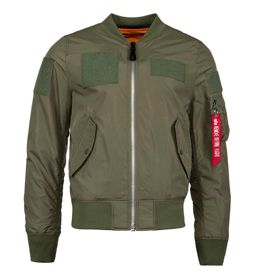 Куртка Бомбер L-2B Flex Alpha 2017 (олива - s.green)