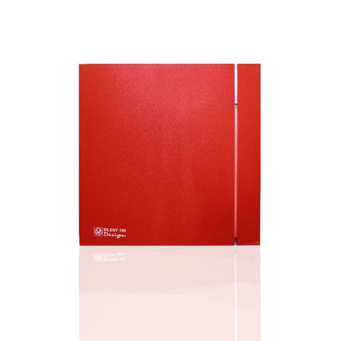 Вентилятор накладной S&P Silent 200 CHZ Design 3C Red (таймер, датчик влажности)