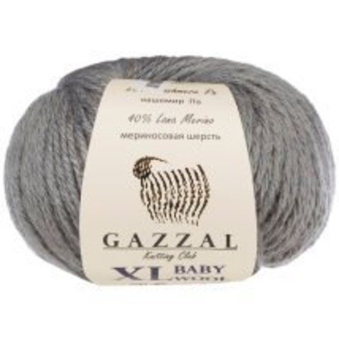 Пряжа Gazzal Baby Wool XL серый 818