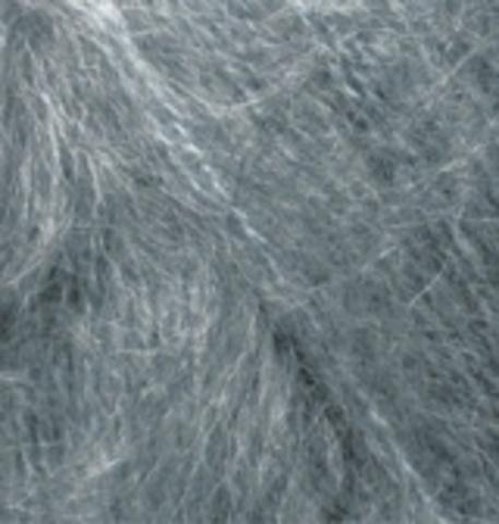 Пряжа Alize Mohair Classic New 412 серый меланж