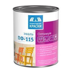 Эмаль алкидная Ленинградские краски ПФ-115 Оптимум ярко-голубая, 0,9кг