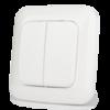 Настенный двухклавишный выключатель на батарейках Z-Wave.Me Dual Paddle Wall ControllerКопировать товар