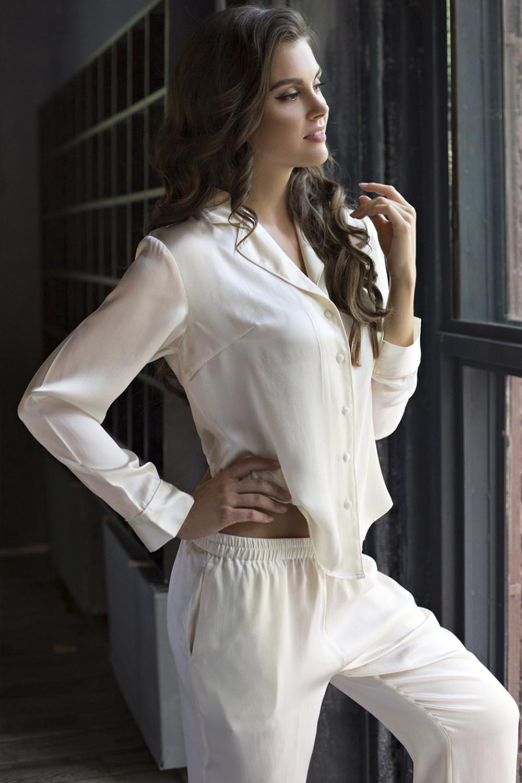 3d6cfe82c462a Нежная пижама женская шелковая кремовая Mia-Mia Mia_Kristy 15116 ...